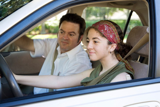Teen driver and teacher